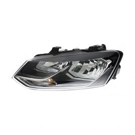 Volkswagen Polo Mk9 2014> Headlight H7 + H7 Black Bezel