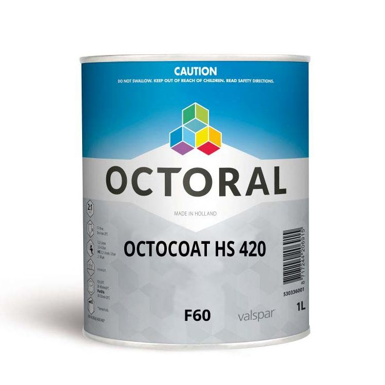 Octocoat HS420 F60 Leadfree Yellow Orange 1ltr