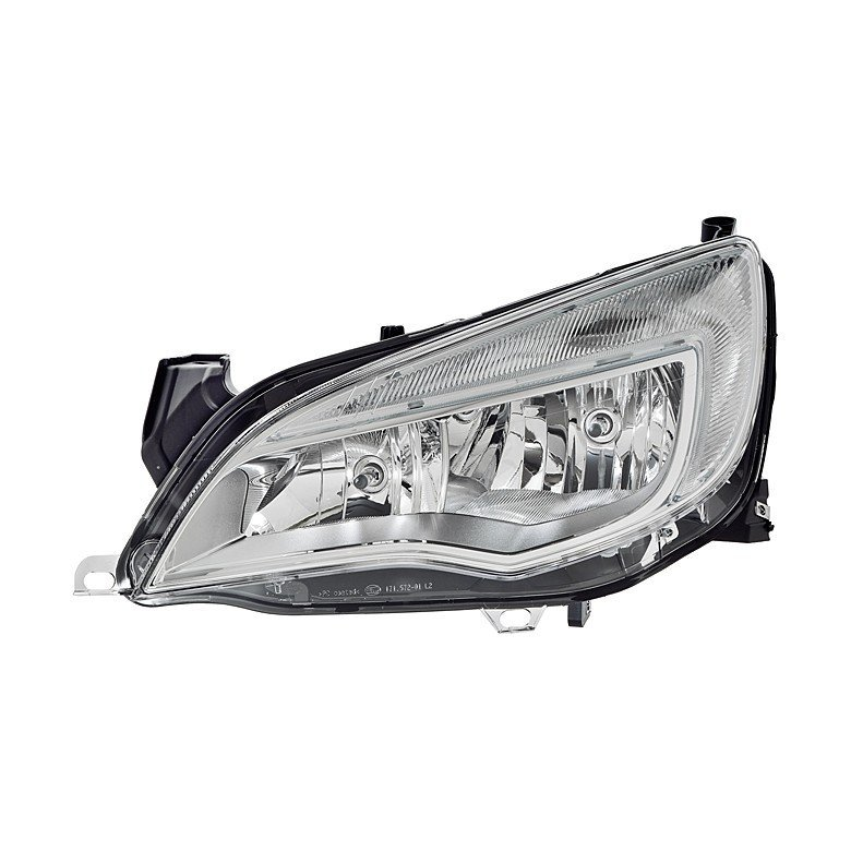 Vauxhall Astra J Mk6 2012>2015 Headlight H7+H7 With DRL (Chrome Mask)