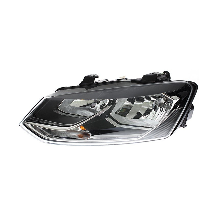 Volkswagen Polo Mk9 2014> Headlight H7 + H7 Black Bezel